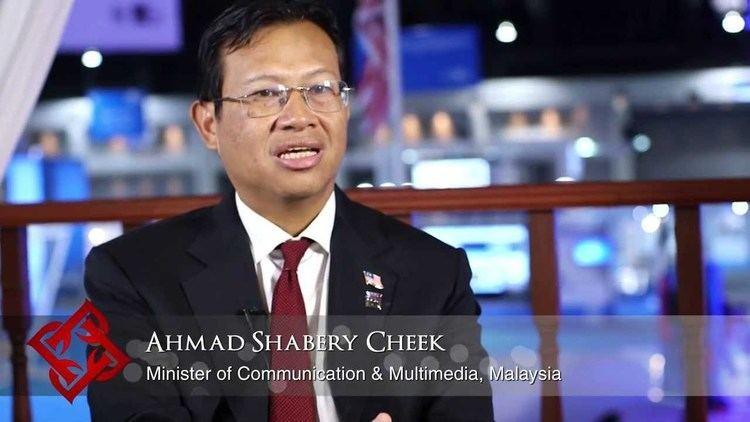 Ahmad Shabery Cheek Malaysian Minister of Communication Multimedia Ahmad Shabery Cheek