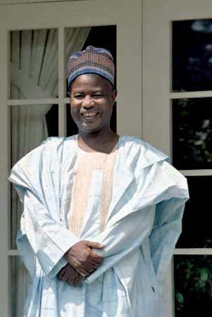 Ahmadou Ahidjo Ahmadou Ahidjo president of Cameroon Britannicacom