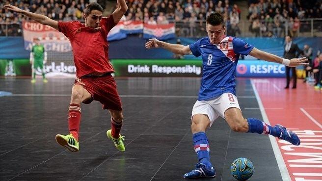 Aicardo Aicardo Spain amp Dario Marinovi Croatia Futsal EURO