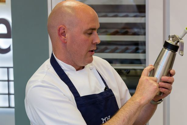 Aiden Byrne Manchester House chef Aiden Byrne films new TV show