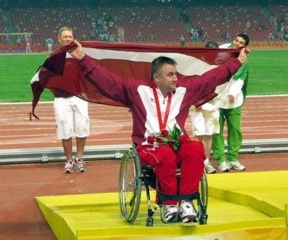 Aigars Apinis Aigars Apinis kst par trskrtju paralimpisko empionu