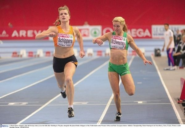 Ailis McSweeney Ailis 7th in 60m semis Leevale Athletic Club Cork Ireland