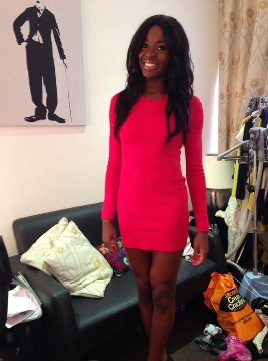 AJ Odudu AJ Odudu wearing Torn by Ronny Kobo from SpottedOnCeleb