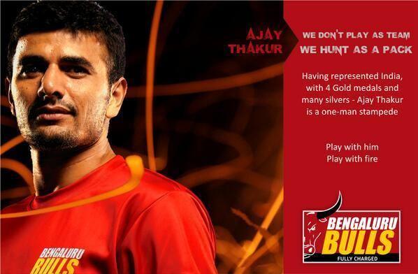 Ajay Thakur Bengaluru Bulls on Twitter quotRaider Ajay Thakur the 1