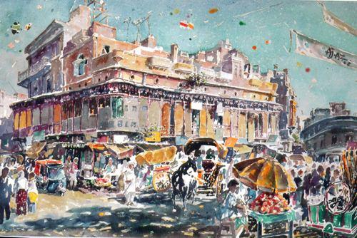 Ajaz Anwar Dr Anwar revives Heritage through watercolour paintings