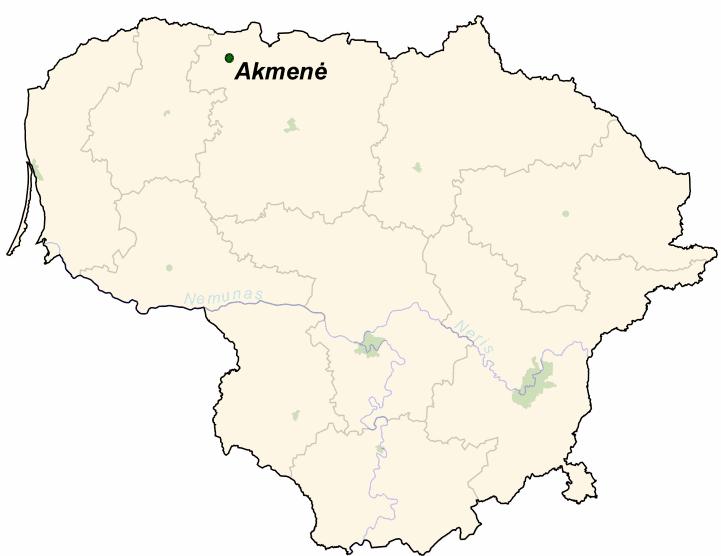 Akmene in the past, History of Akmene