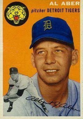 Al Aber 1954 Topps Al Aber 238 Baseball Card Petes Baseball Detroit