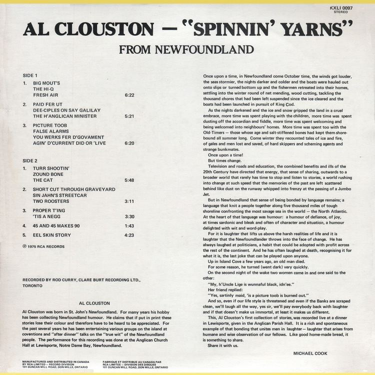 Al Clouston Vintage Standup Comedy Al Clouston Spinnin Yarns From