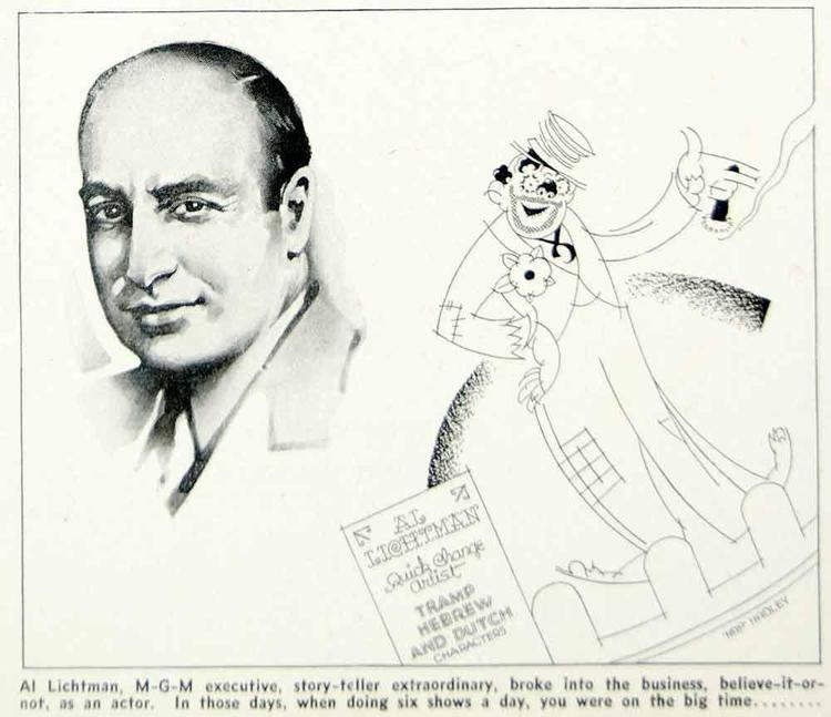 Al Lichtman 1936 Print Al Lichtman MGM Executive Movie Film Producer Hap Hadley