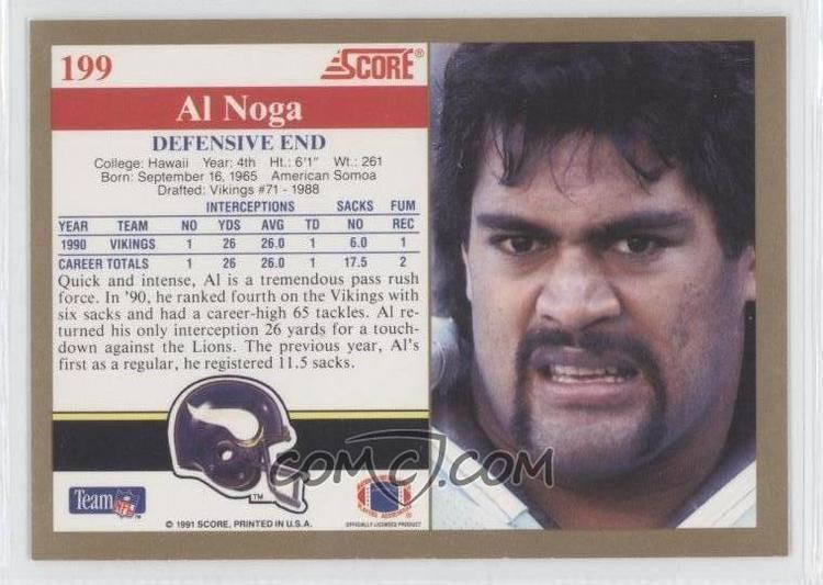 Al Noga 1991 Score 199 Al Noga COMC Card Marketplace