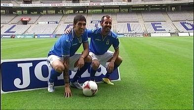 Alain Arroyo RTPA El Real Oviedo presenta a Javi Hernndez y Alain Arroyo