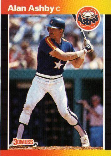 Alan Ashby HOUSTON ASTROS Alan Ashby 88 DONRUSS 1989 MLB Baseball Trading Card