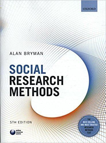 Alan Bryman Social Research Methods Alan Bryman 9780199689453 Amazoncom Books