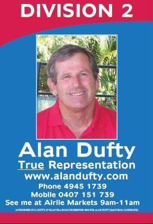 Alan Dufty Alan Dufty for Whitsunday Council