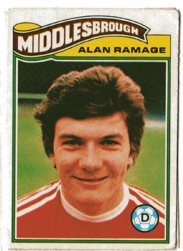 Alan Ramage MIDDLESBROUGH Alan Ramage 242 TOPPS 1978 Orange Back Football