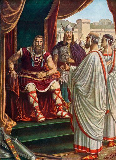 Alaric I The Roman ambassadors beseaching Alaric I King of the