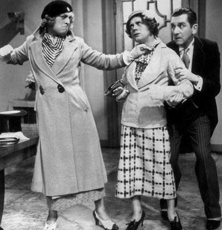 Albert Burdon Actors Leslie Hensen and Albert Burdon femulating in the 1933 film