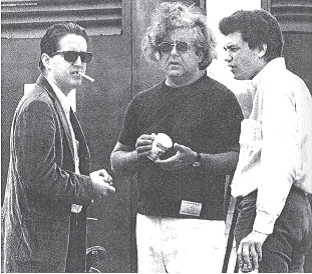 Albert Grossman Paul Butterfield Mike Bloomfield and Albert Grossman at Newport