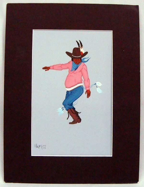 Albert Harjo Original Painting by Albert Harjo Stomp Dancer