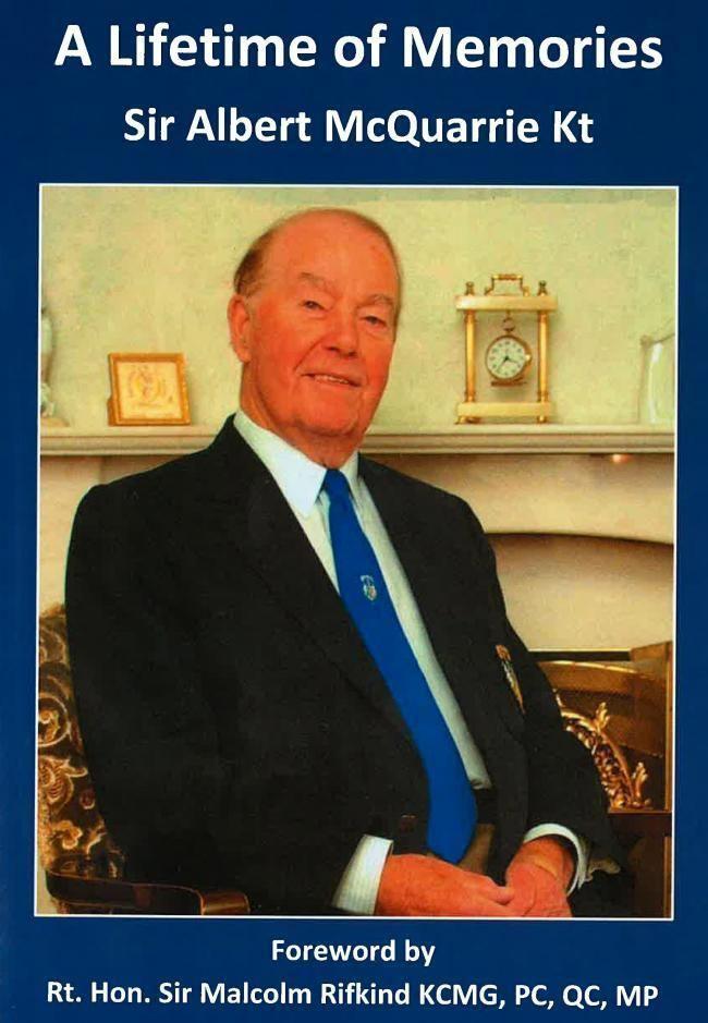 Albert McQuarrie Obituary Sir Albert McQuarrie From The Gazette