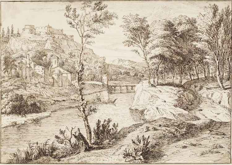 Albert Meijeringh Albert Meijeringh Amsterdam 16451714 An Italianate wooded river