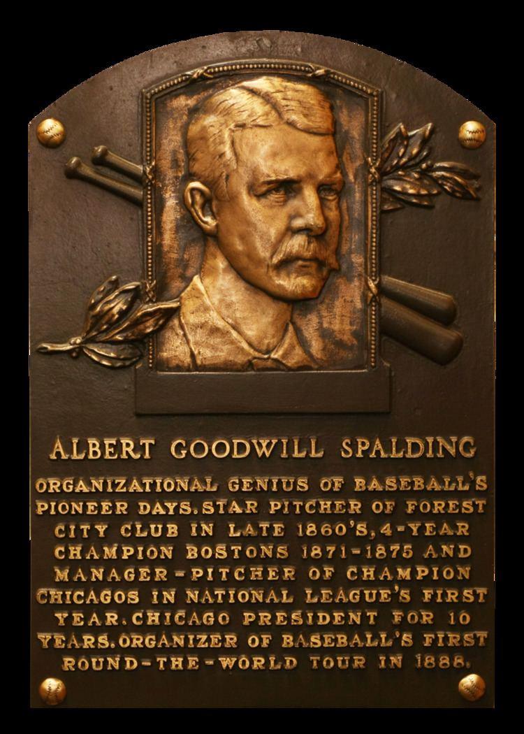 Albert Spalding Spalding Al Baseball Hall of Fame