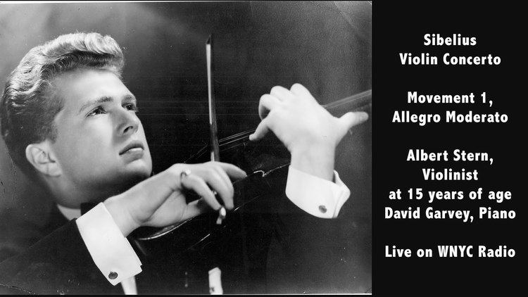 Albert Stern (violinist) Sibelius Violin Concerto Movement 1Albert Stern Violinist David