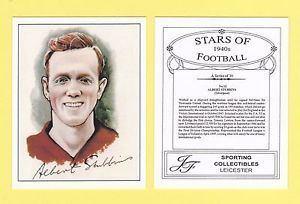 Albert Stubbins FOOTBALL JF SPORTING FOOTBALLER CARD 1940s ALBERT STUBBINS OF
