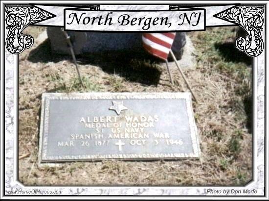 Albert Vadas Photo of Grave site of MOH Recipient Albert Vadas Wadas