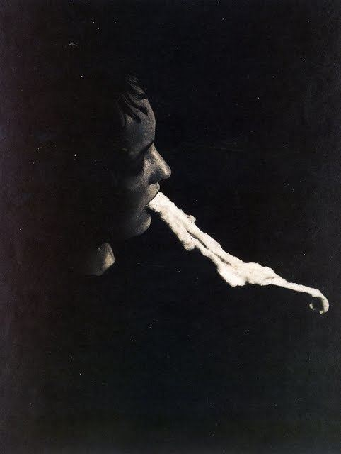 Albert von Schrenck-Notzing Photo of a Spirit Medium with Ectoplasm 1913 Dieselpunks