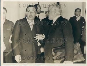 Alberto Beneduce 1933 Italy Politicians Alberto Beneduce Guido Jung Press Photo eBay