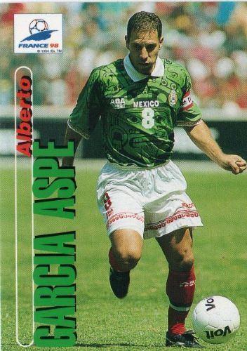Alberto Garcia Aspe MEXICO Alberto Garcia Aspe 55 PANINI France 98 Football