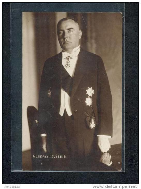Alberts Kviesis PHOTO CARTE ALBERTS KVIESIS LETTONIE Delcampenet
