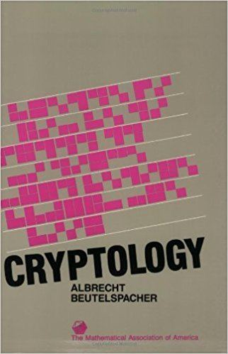 Albrecht Beutelspacher Cryptology Spectrum Albrecht Beutelspacher J Chris Fisher