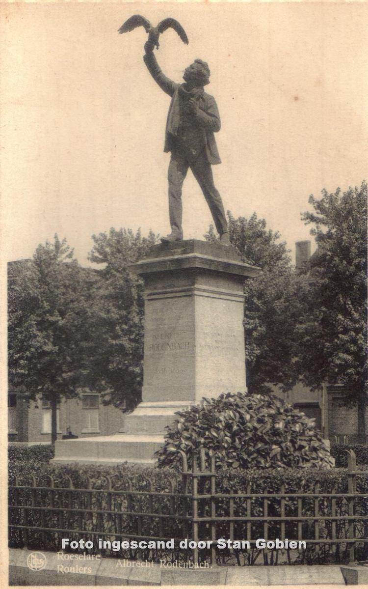 Albrecht Rodenbach roeselarealbrechtrodenbachstandbeeldconickpleinNelsjpg