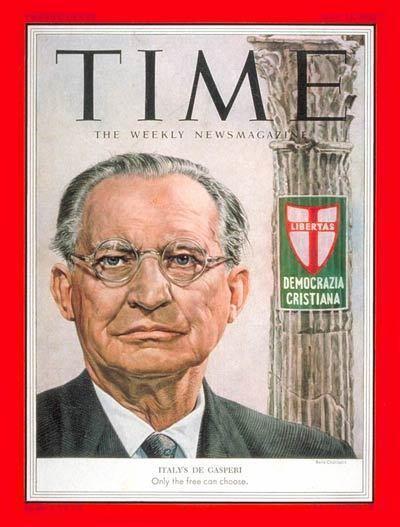 Alcide De Gasperi TIME Magazine Cover Alcide de Gasperi May 25 1953