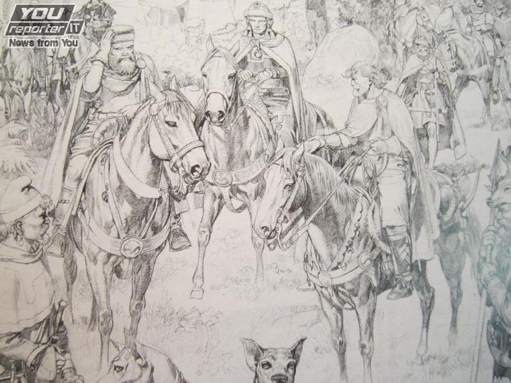 Aldo Capitanio Aldo Capitanio in mostra a Vicenzada TEX al Medioevo