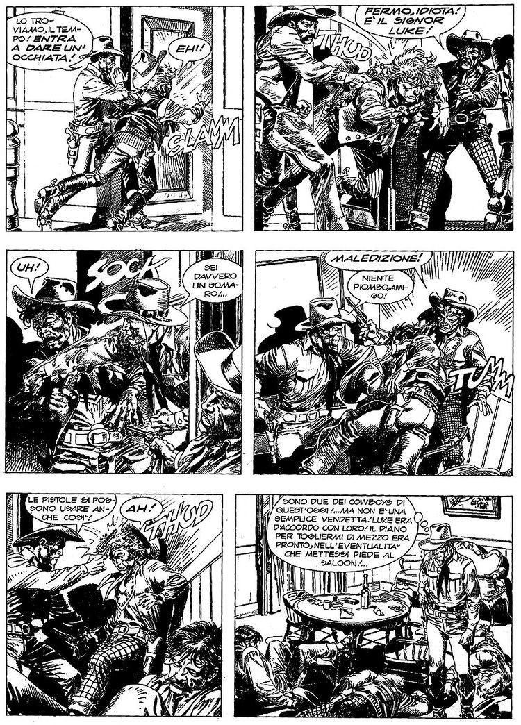 Aldo Capitanio Aldo Capitanio une toile filante des fumetti Capitanio