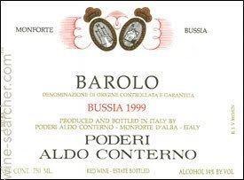 Aldo Conterno 1999 Poderi Aldo Conterno Bussia Barolo DOCG Italy prices