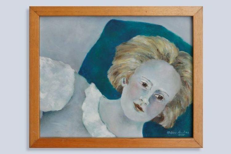 Aldona Gustas Kaune Aldonos Gustas tapybos paroda Mano vaikysts