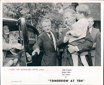 Alec Clunes TOMORROW AT TEN ROBERT SHAW ALEC CLUNES LOBBY CARD RARE at