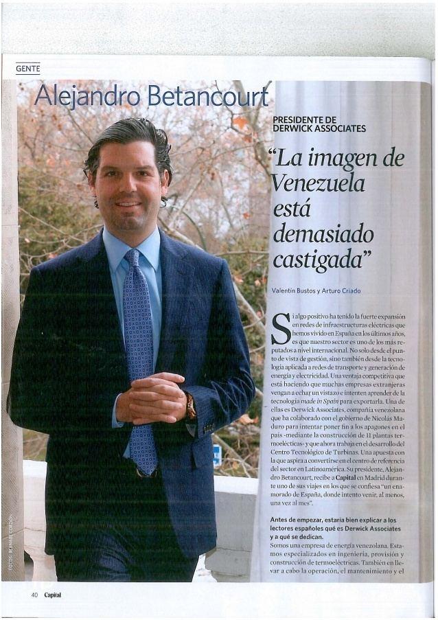 Alejandro Betancourt López Betancourt Lpez entrevistado en la revista espaola Capital