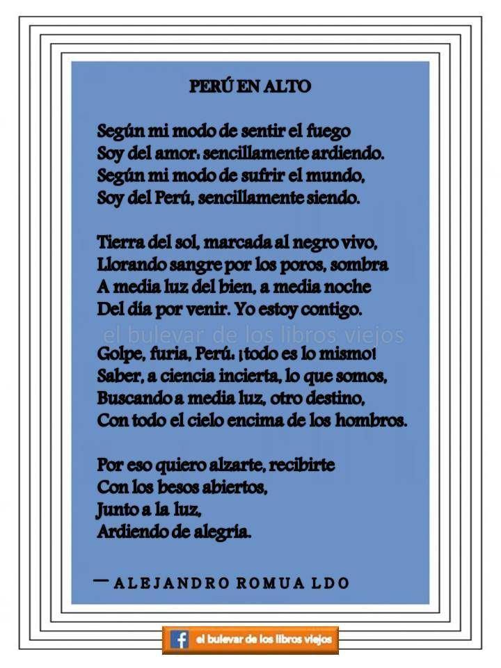 Alejandro Romualdo Per en alto Alejandro Romualdo poeta peruano de la Generacin