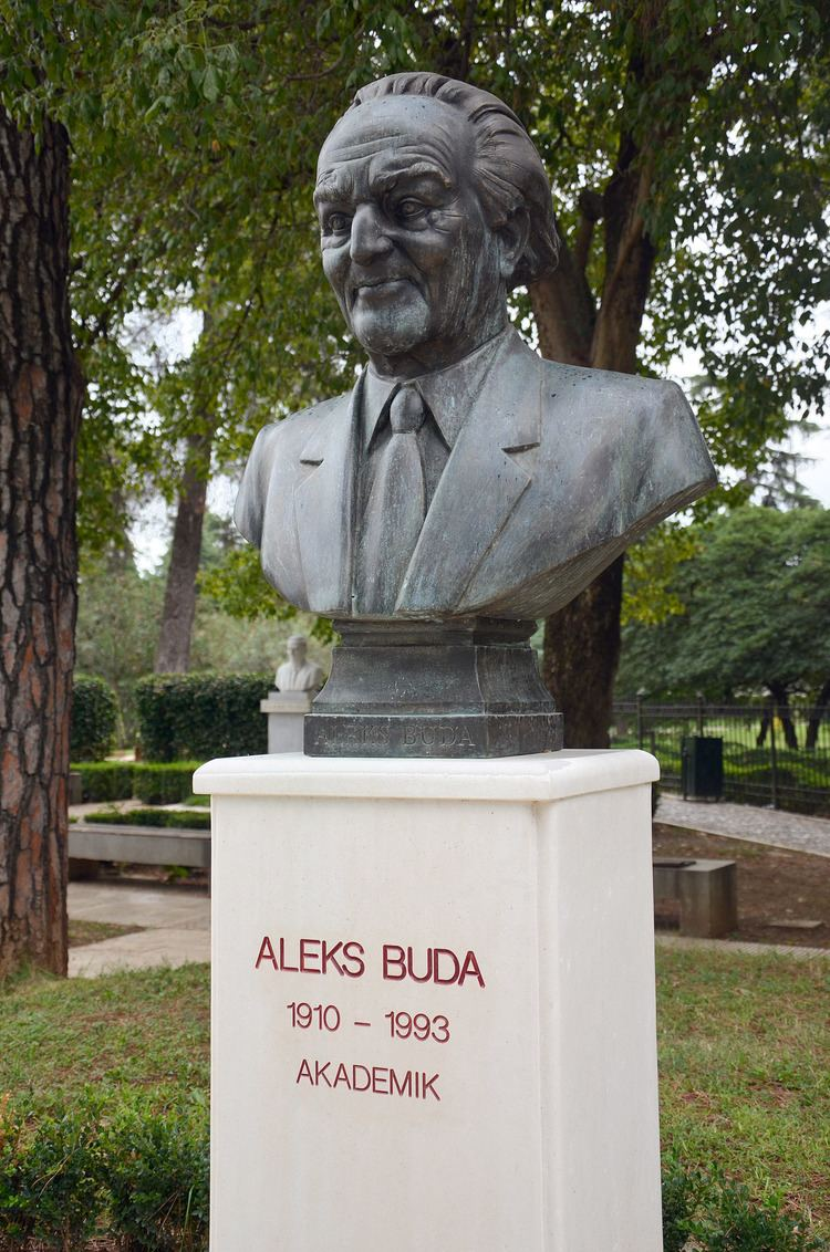 Aleks Buda FileAleks Buda bust in Tirana Albaniajpg Wikimedia Commons