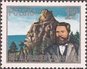 Aleksander Czekanowski Znaczek Aleksander Czekanowski 183376geologist Polska MiPL
