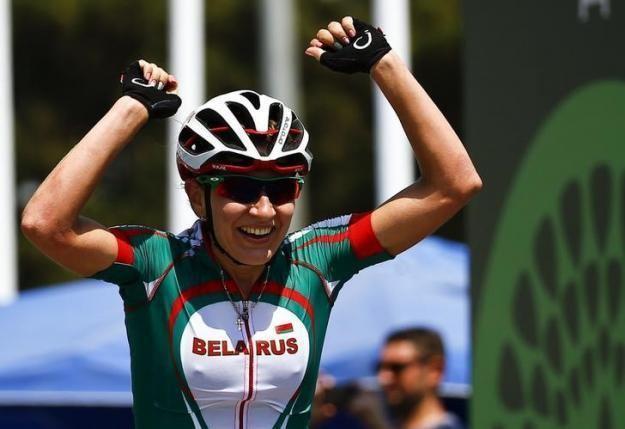 Alena Amialiusik Amialiusik pounces late to take road race gold Reuters