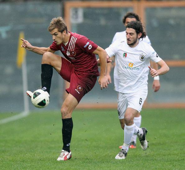 Alessandro Sbaffo Andrea Bovo Pictures Reggina Calcio v AC Spezia Serie