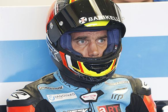 Alex de Angelis Injured Alex de Angelis to return to MotoGP paddock at