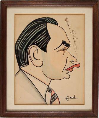 Alex Gard alex gard caricature of Edward G Robinson Caricatures