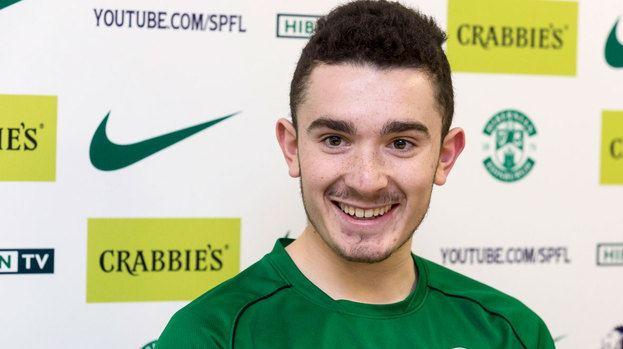 Alex Harris Alex Harris aims to kick on after signing new Hibernian